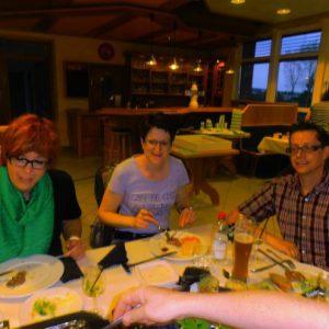 Sandra, Silke und Ralf