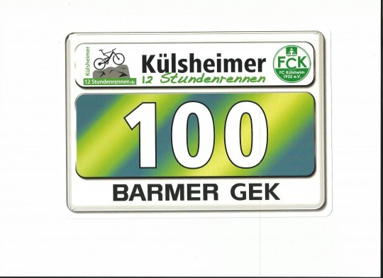 Startnummer KIDS-Race 2012