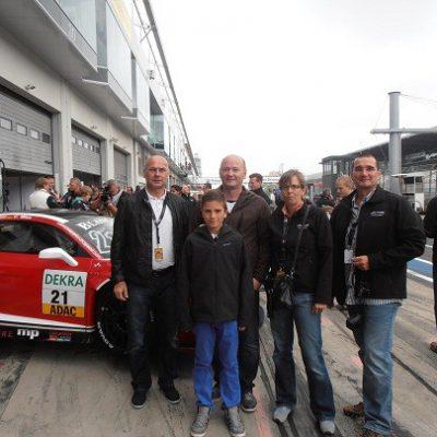 "in der Boxengasse mit ""unserem"" Audi R8 LMS ultra"