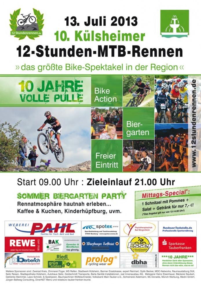 12-Stunden-MTB-Rennen Plakat-2013