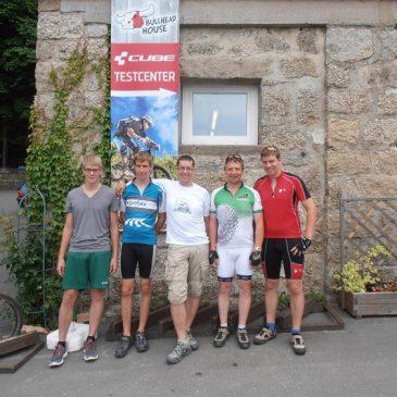 Mountainbiken bei Vater-Sohn-Tour