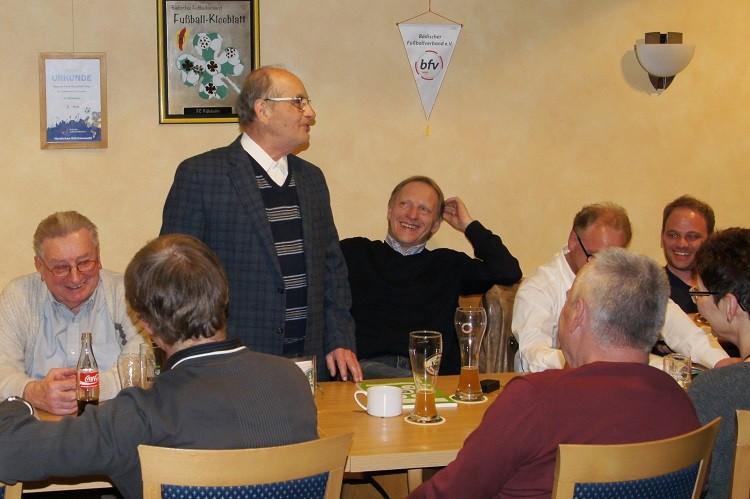 Helmut Bundschuh bei der Entlastung des Vorstandes