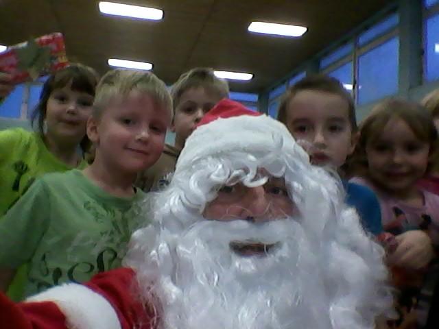 Weihnachtsmann-Selfi