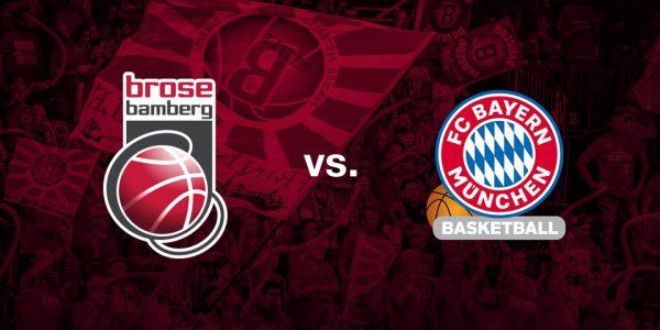 Basketball: Brose Bamberg – FC Bayern München